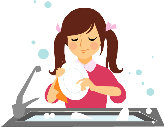 Clear dishes chore clip. Chores clipart washing dish
