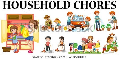 Chores clipart. Household station regarding doing