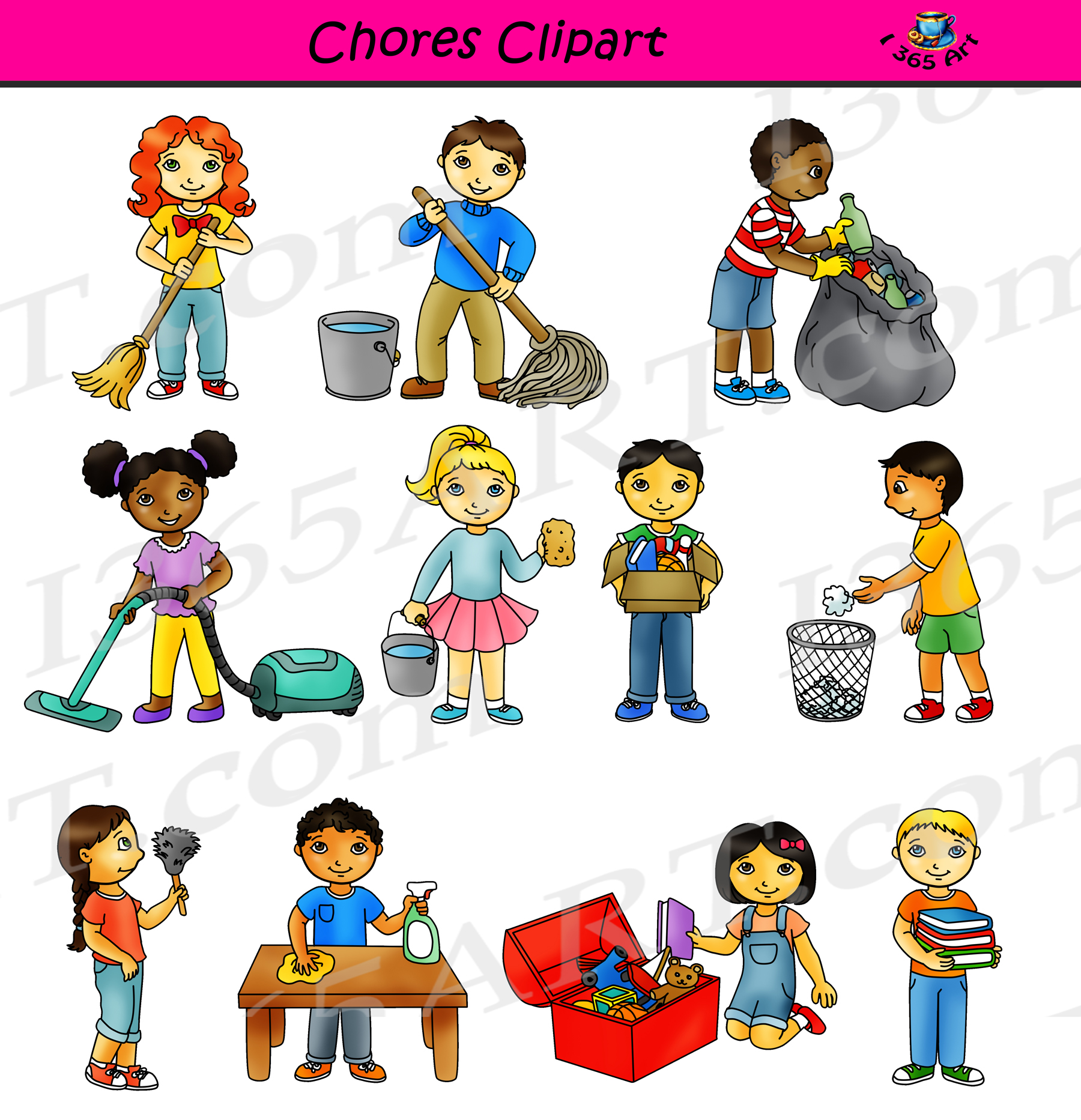 Chores classroom cleaning commercial. Clipart school chore