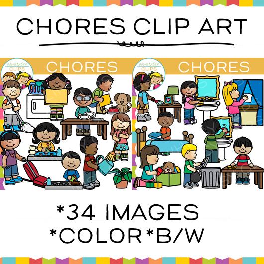Kids clip art images. Chores clipart