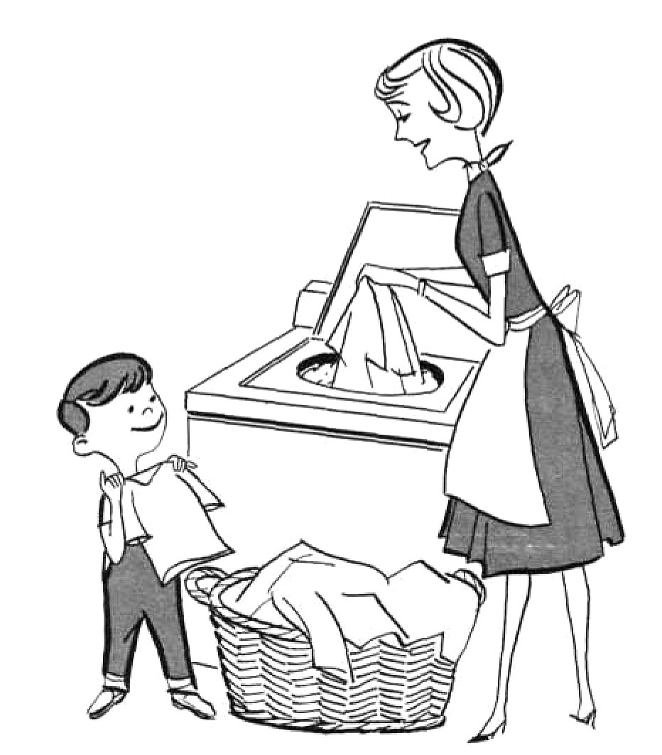Chores clipart black and white. Best kids doing coloring