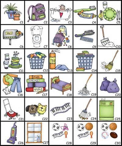 Chore clipart toddler. Circular chart clip art