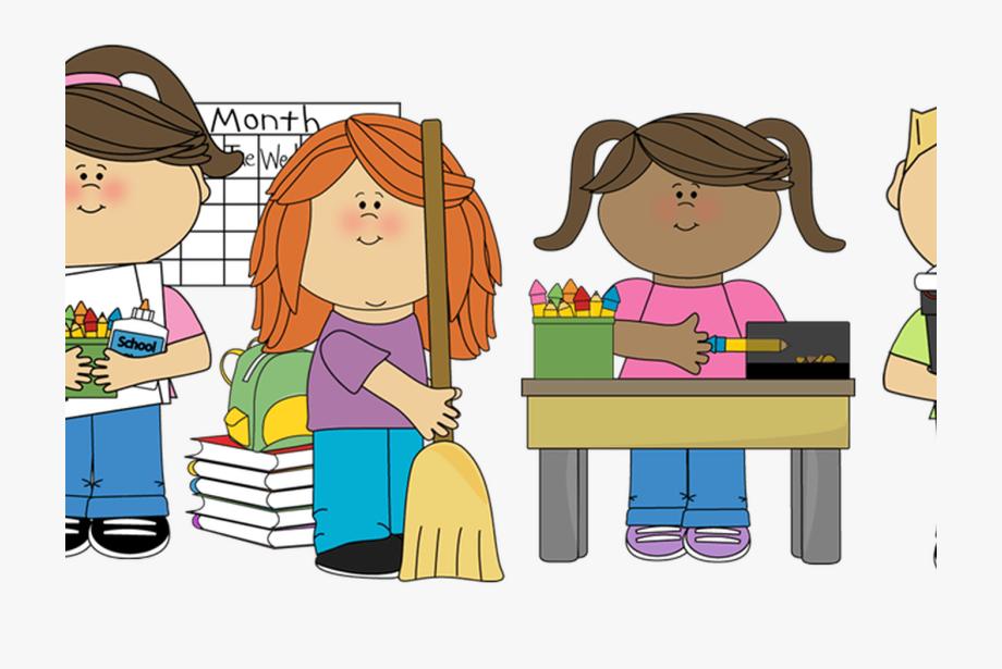 Children cleaning clip art. Chores clipart classroom