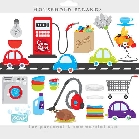 Clipart cars house. Household chores clip art
