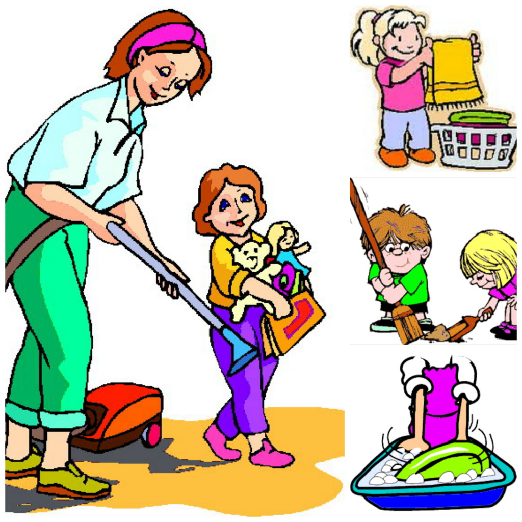 Chore clipart helpful. Image of chart chores