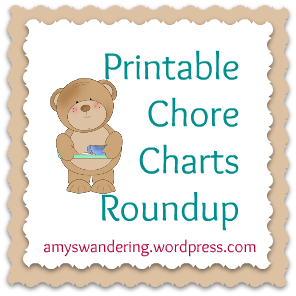 Free printable chore charts. Chores clipart job chart