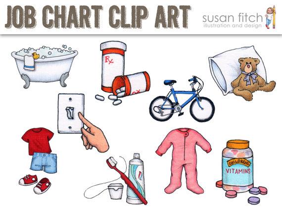 Chores clipart job chart. Chore clip art like