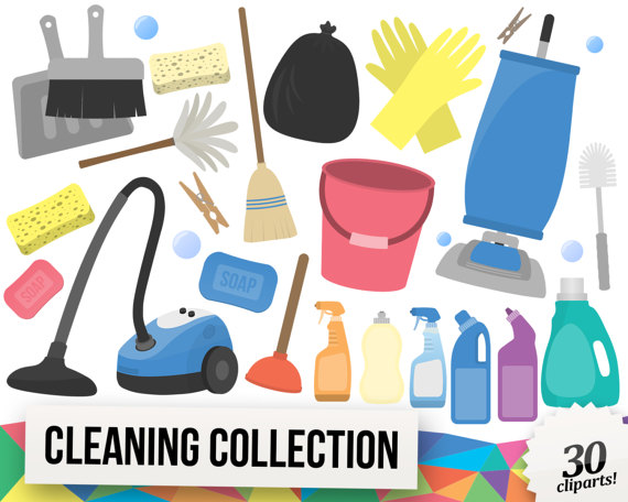 Chores clipart laundry. Cleaning collection