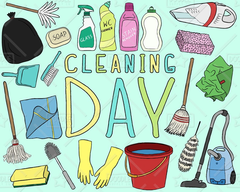 Cleaning vector pack soap. Chores clipart laundry