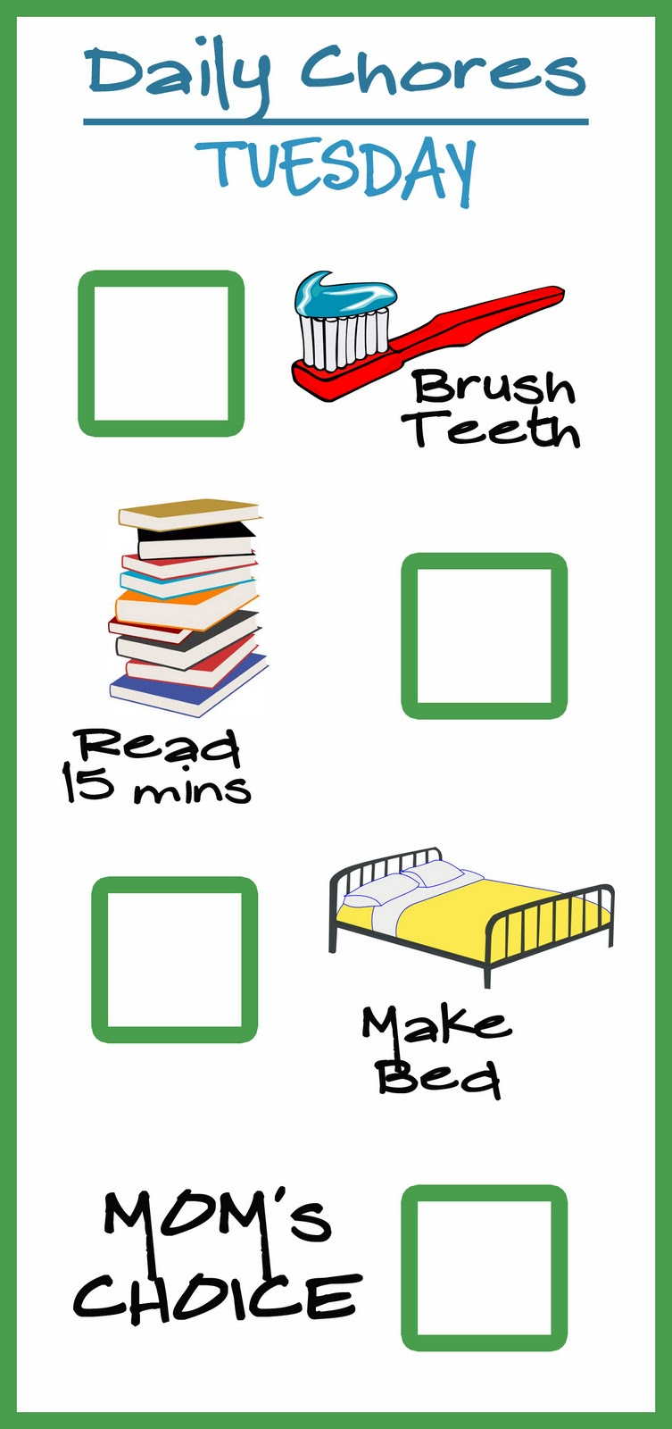 Chore charts over the. Chores clipart pre k
