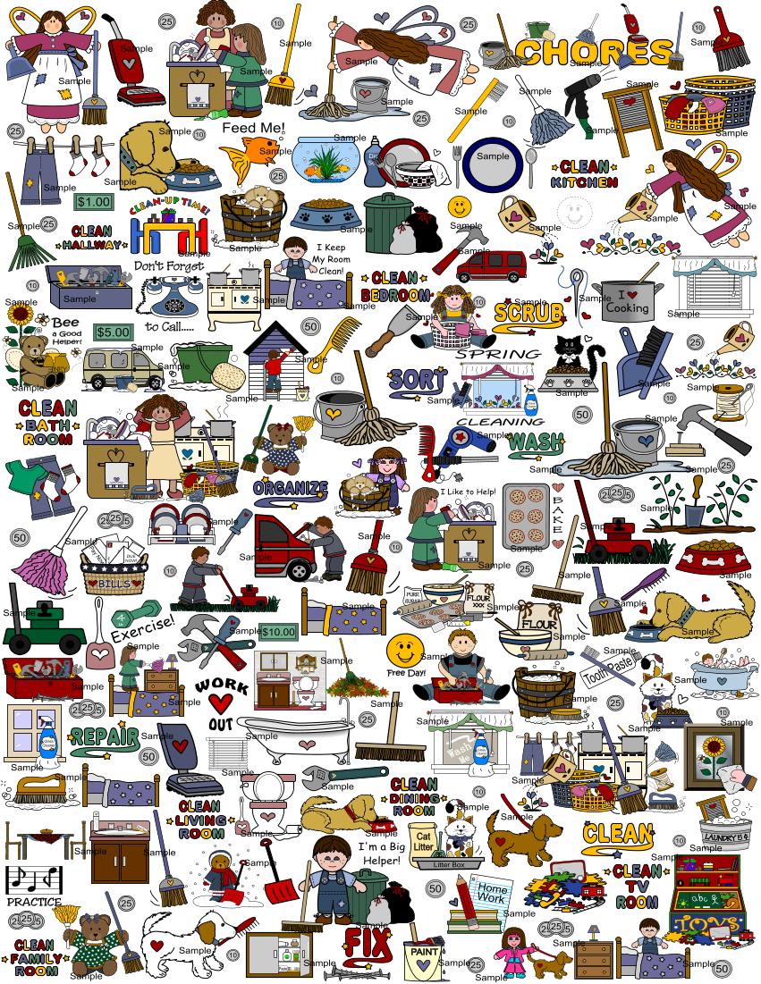 Chore clipart chore chart. Maker print charts online