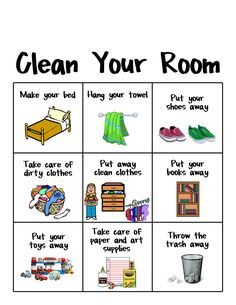 House rules sign and. Chores clipart visual