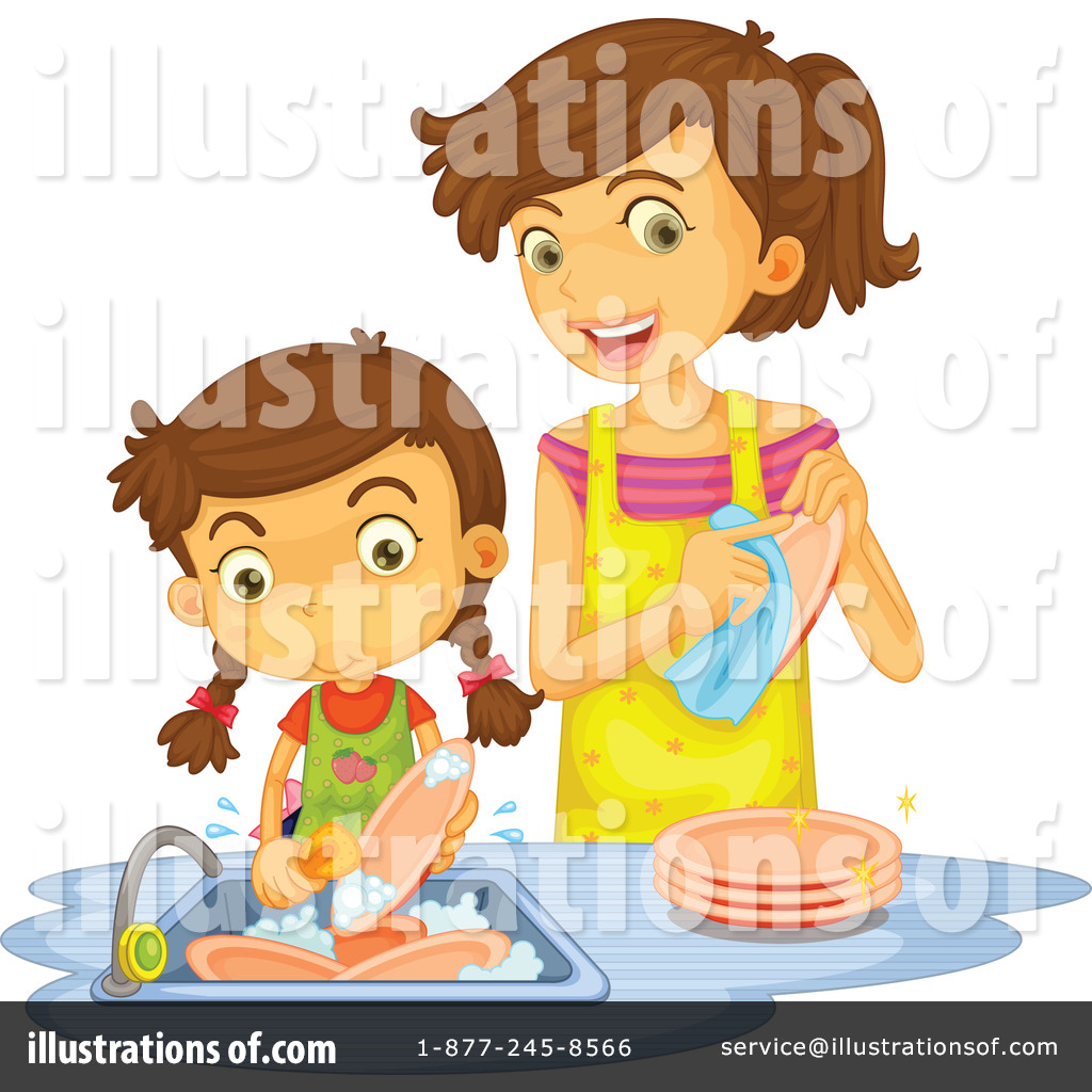 Chores clipart washing dish. Dishes illustration by graphics