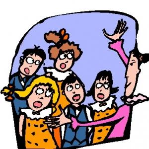 Chorus clipart. School