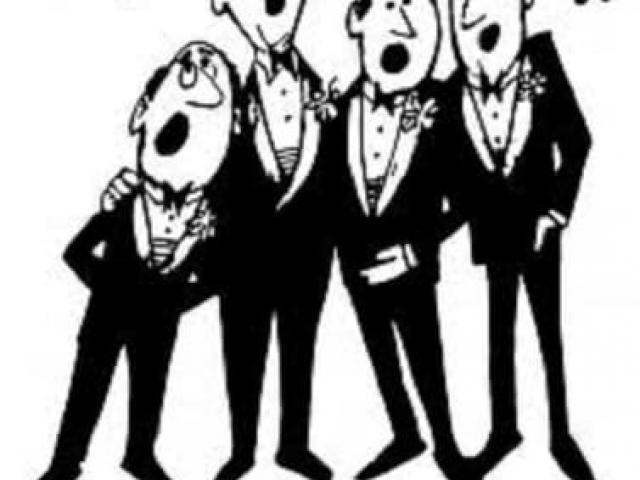 Free singer download clip. Chorus clipart acapella