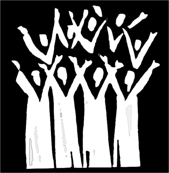 Chorus clipart black and white. Choir in clip art