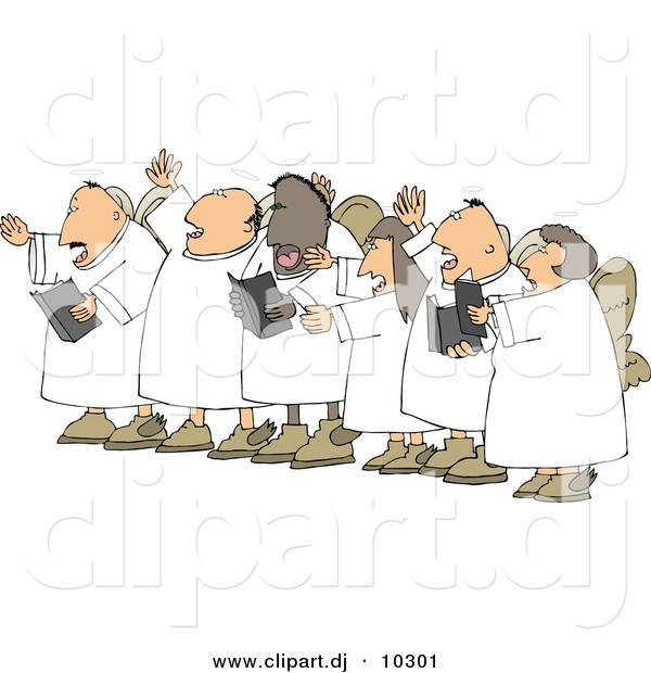 Chorus clipart cartoon. Of a angels singing