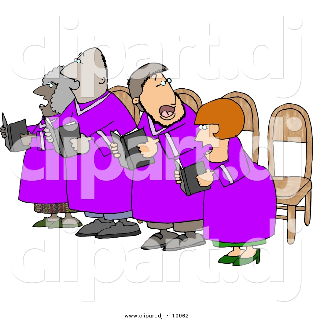 Of a church singing. Chorus clipart cartoon