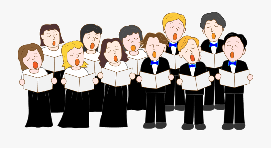 Chorus clipart cartoon. The shul singing choir