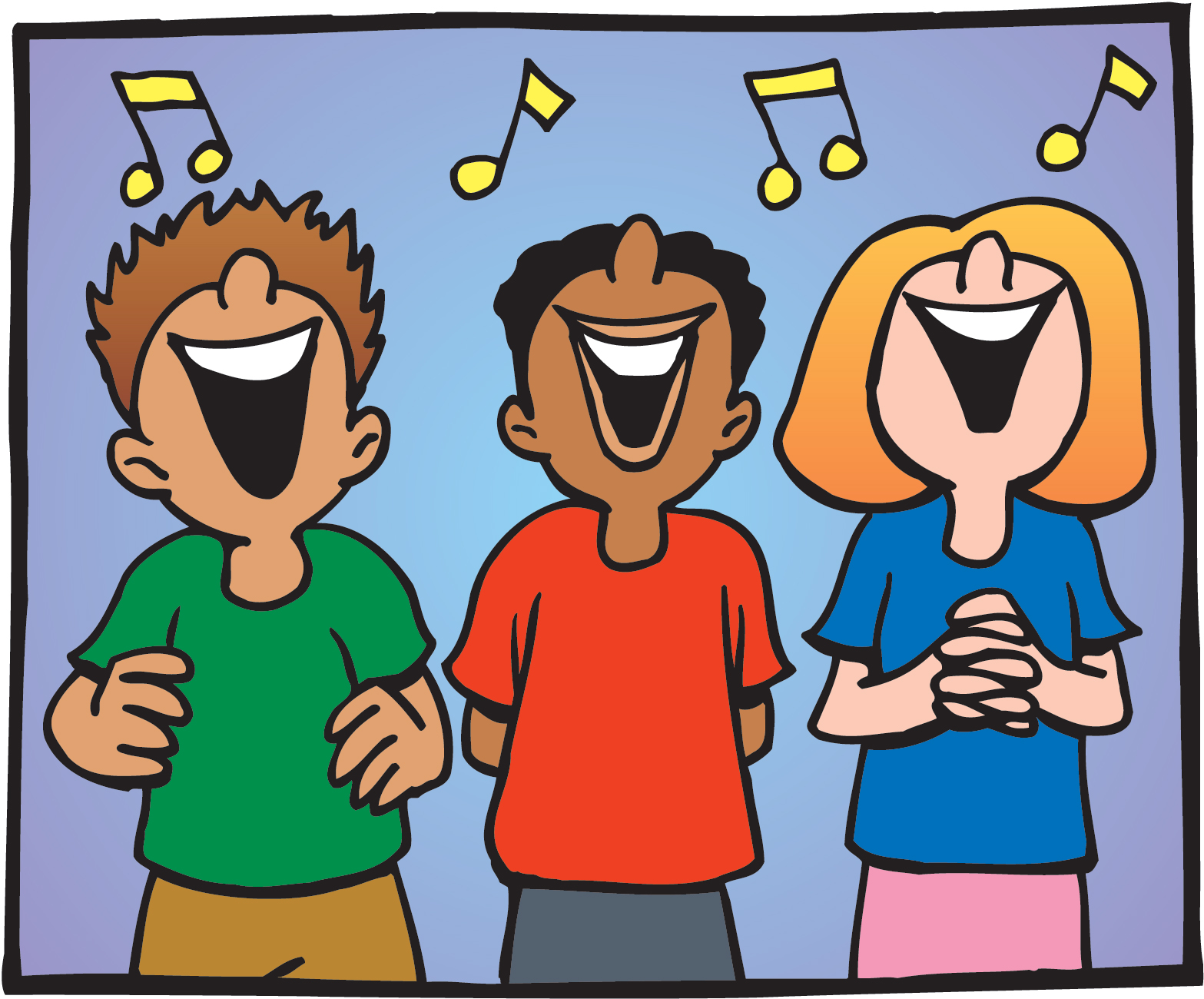 clipartlook. Chorus clipart cartoon