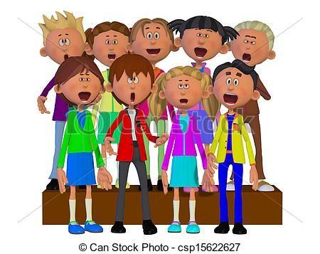 Chorus clipart child choir. And stock illustrations vector