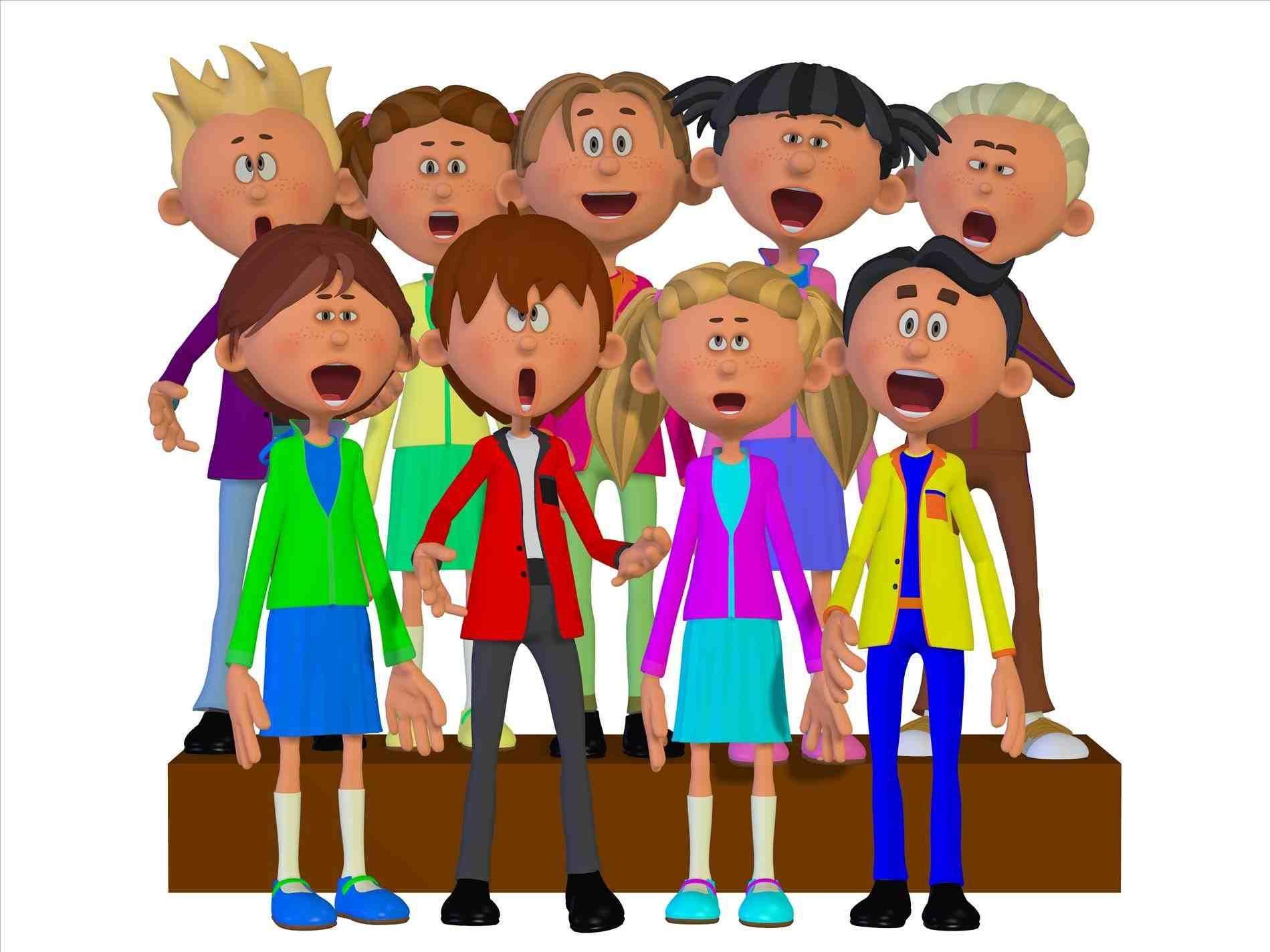 Chorus clipart children's. New post children s