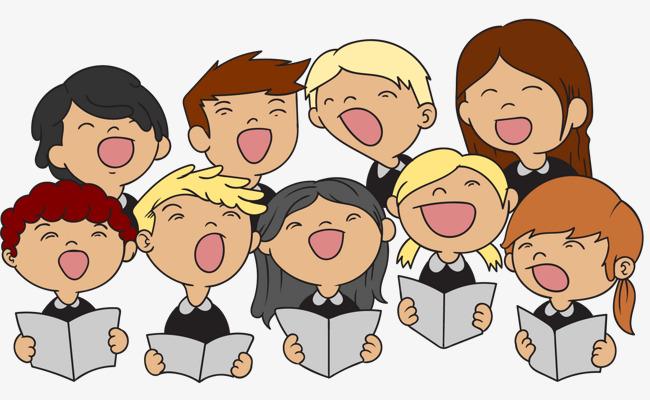 Chorus clipart childrens choir. Vector tidy children child