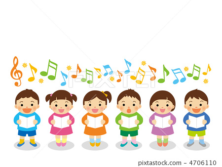 Chorus clipart children's. Children s choir stock