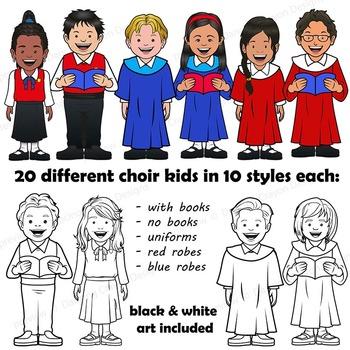 Choir Singer in Purple Robe | Church Choir Clipart