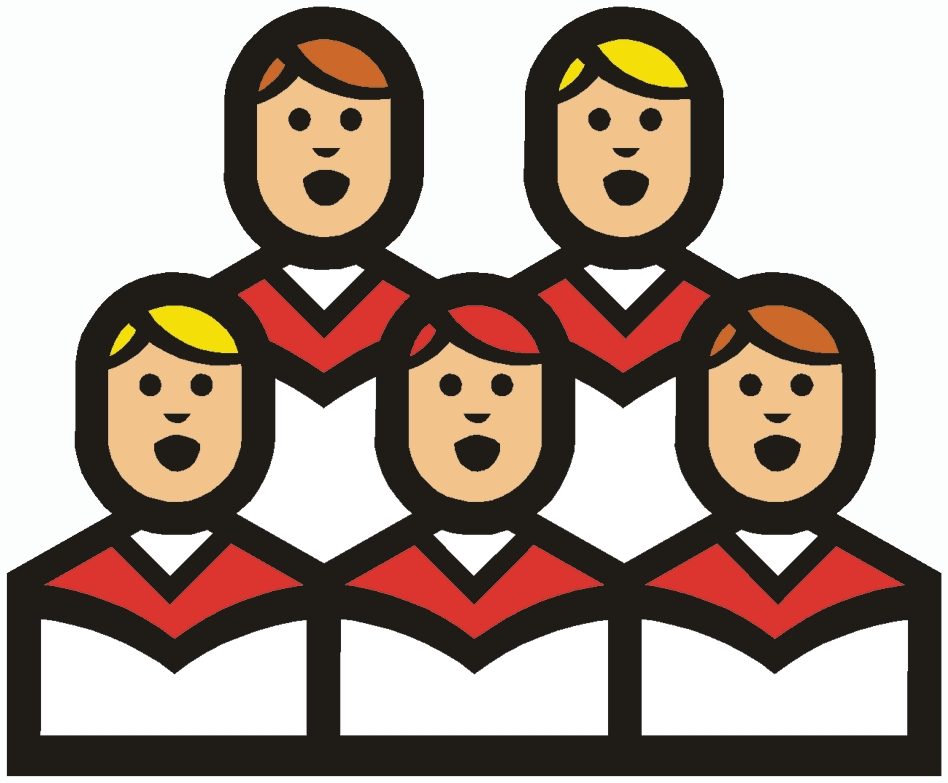 Pictures of people singing. Choir clipart religious