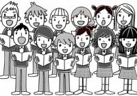 Chorus clip art free. Choir clipart student