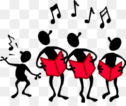 Singing choir sing along. Chorus clipart ensemble