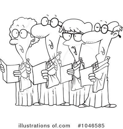 Illustration by toonaday royaltyfree. Choir clipart senior citizen