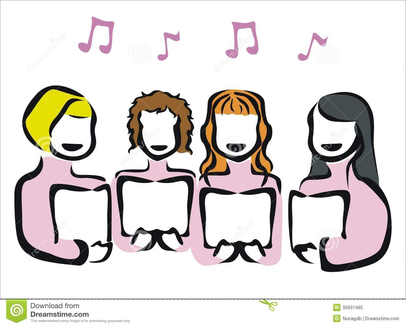 Childrens choir free download. Chorus clipart women's