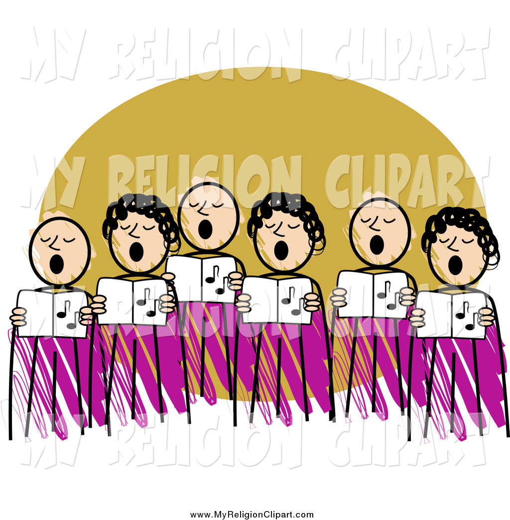 Chorus clipart women's. Religion clip art of