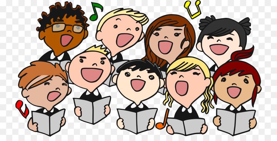 Chorus clipart. Choir singing mens clip