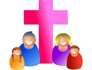 Becoming part of god. Christian clipart alive
