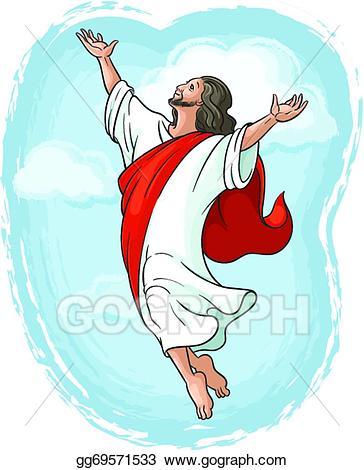 God clipart ascension. Vector of jesus christ