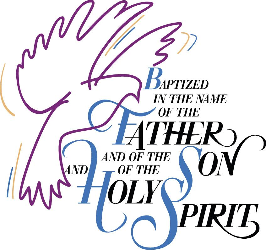 Christian clipart baptism. Our lady queen of