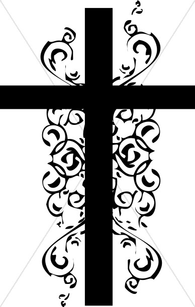 Christian clipart black and white. Cross