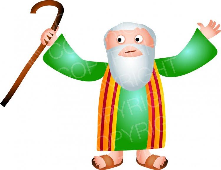Christian clipart cartoon. Bible character illustration prawny