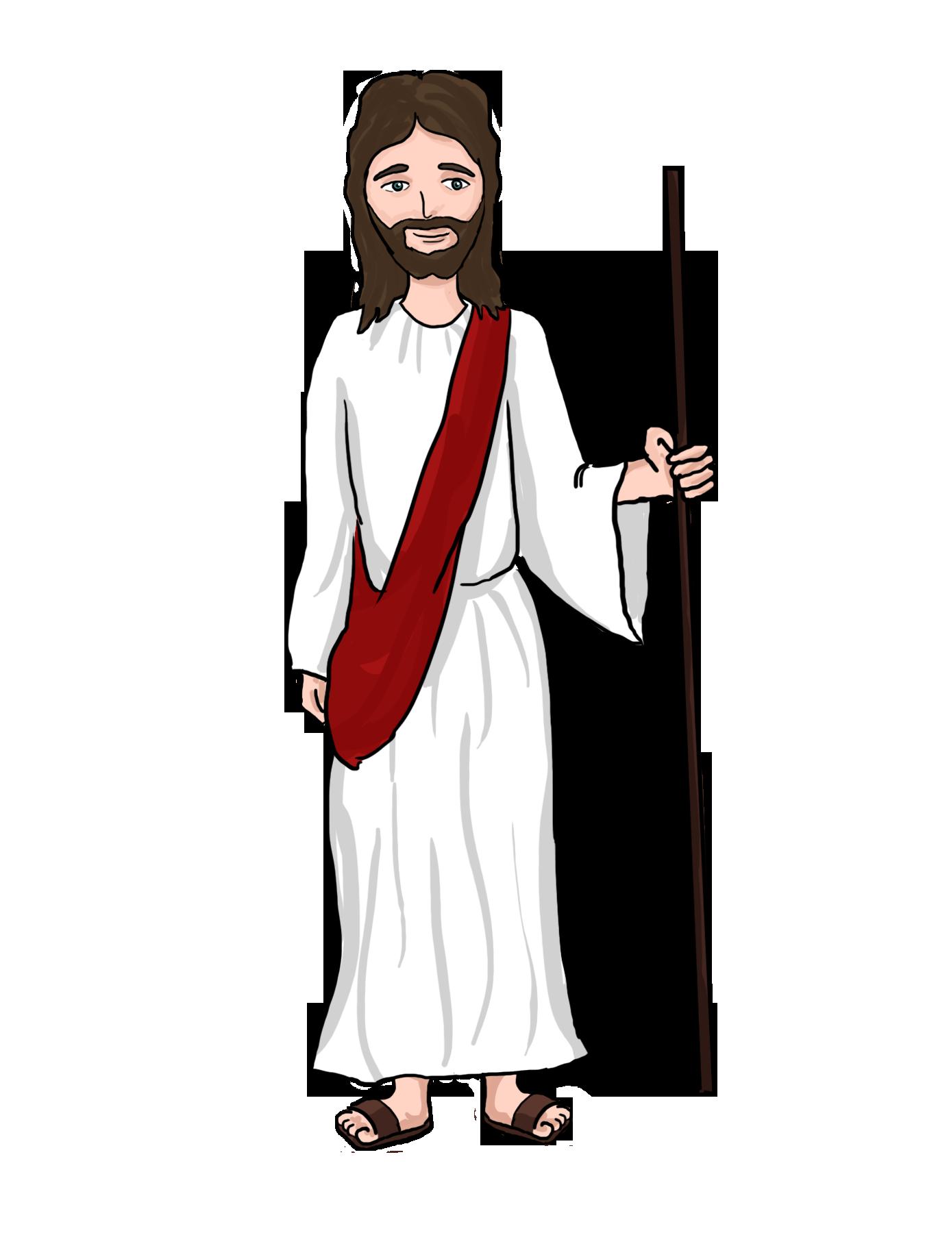 Cartoon jesus . Lent clipart art