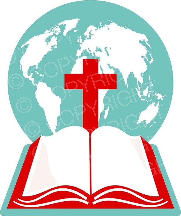 Christian clipart christianity. World globe cross and