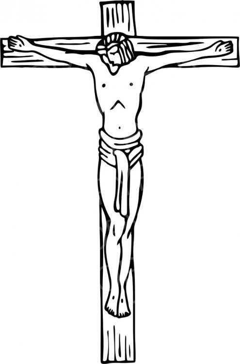 Christ crucified at calvary. Christian clipart crucifixion