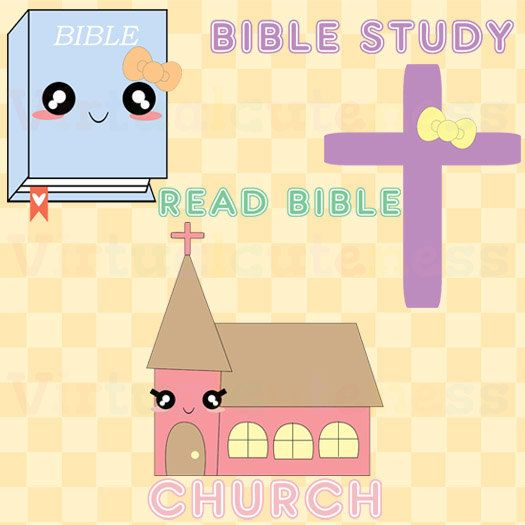 Christian clipart cute. Church kawaii bible clip
