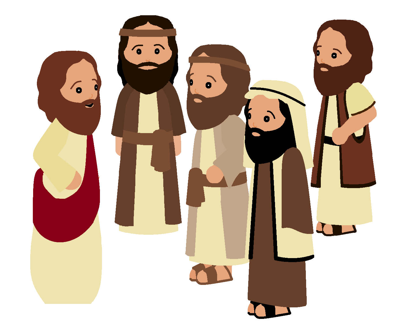 Christian clipart disciples. Jesus and