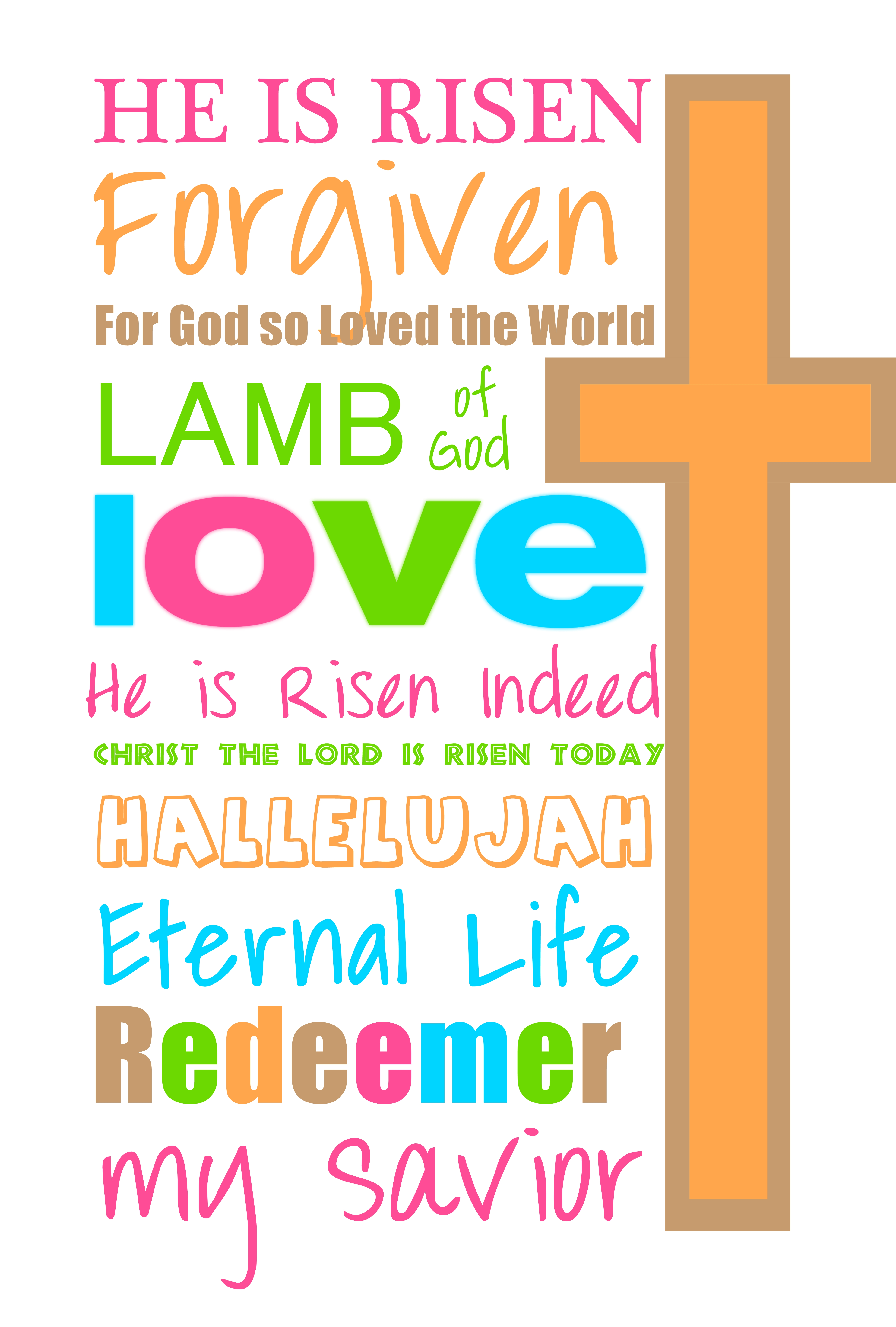 Christian clipart easter. Happy