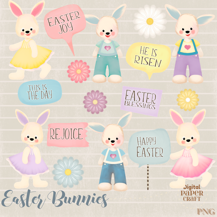 Bunny rabbit ea. Christian clipart easter