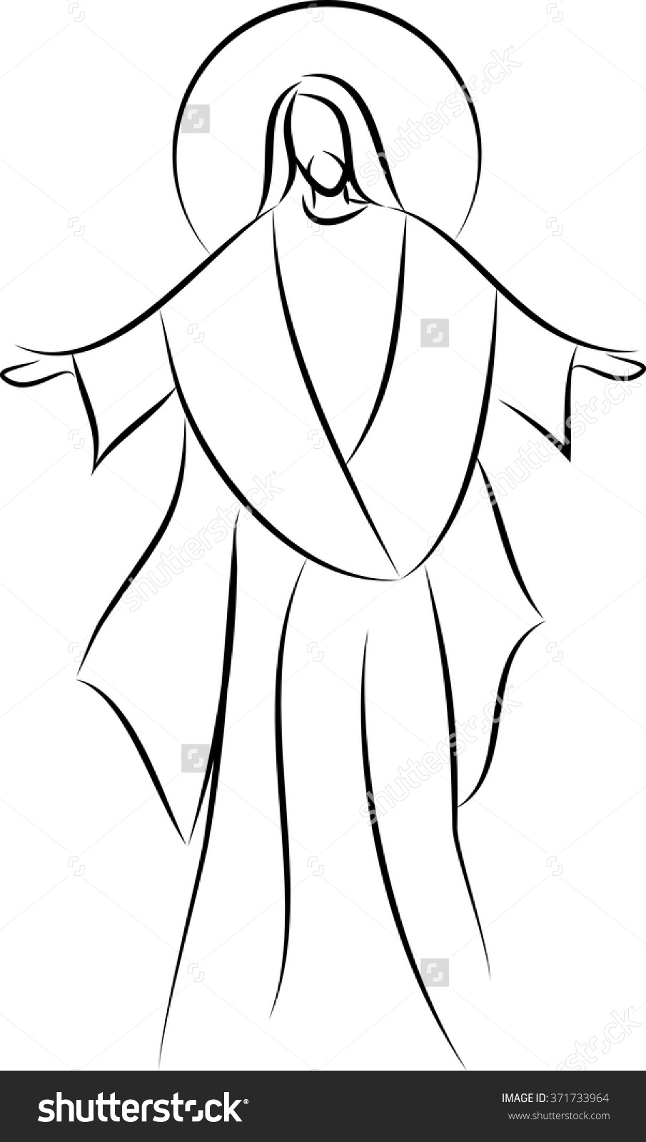 Simple drawing of jesus. Christian clipart easy
