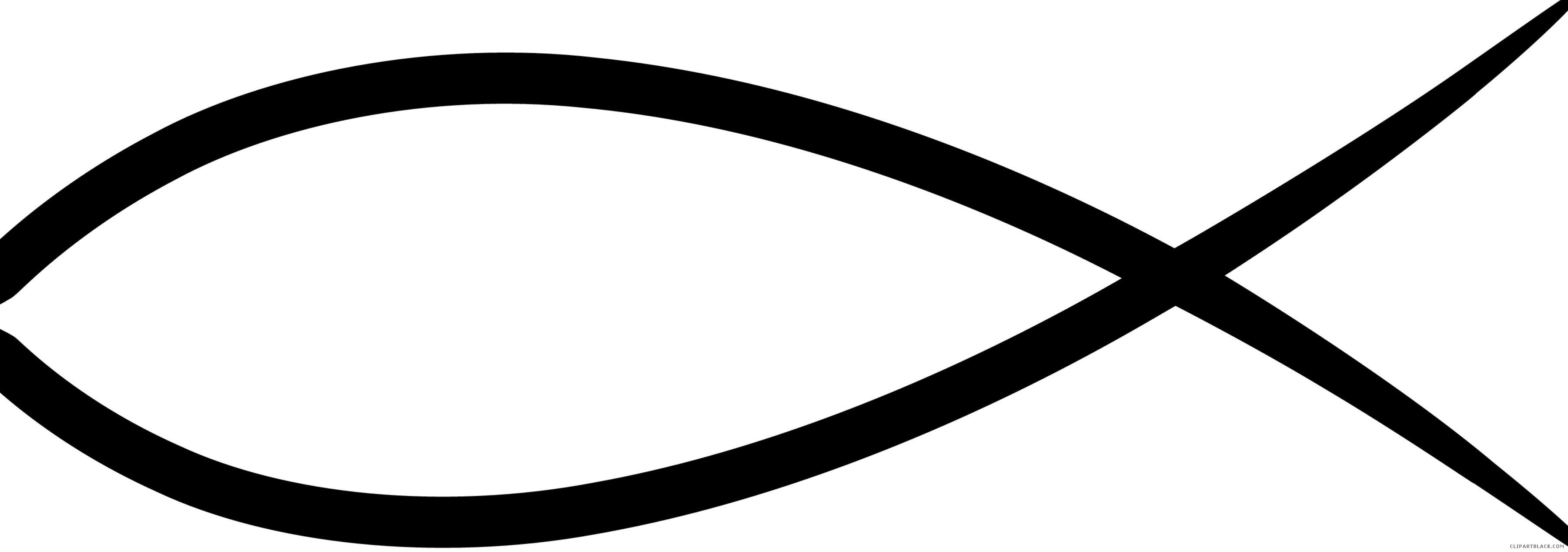 Symbol clipartblack com animal. Christian clipart fish